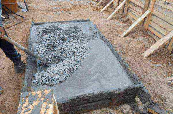 засыпаемый бетон